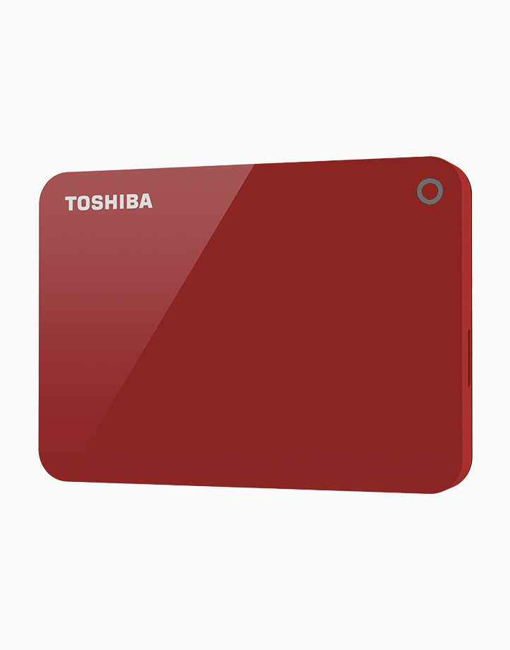 Canvio Advance Portable External Hard Drive (1TB) by Toshiba | Red