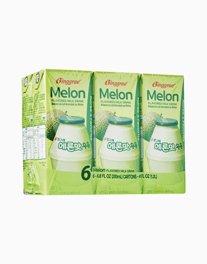 Melon Flavored Milk (200ml x 6) by Binggrae