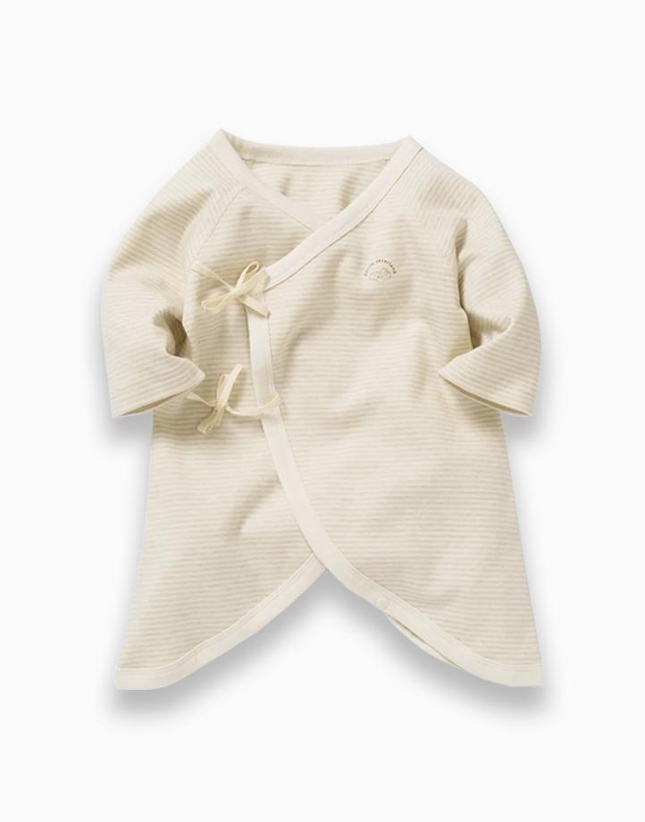 Kimono Tie Sides by Kat & Co.   Green Stripes