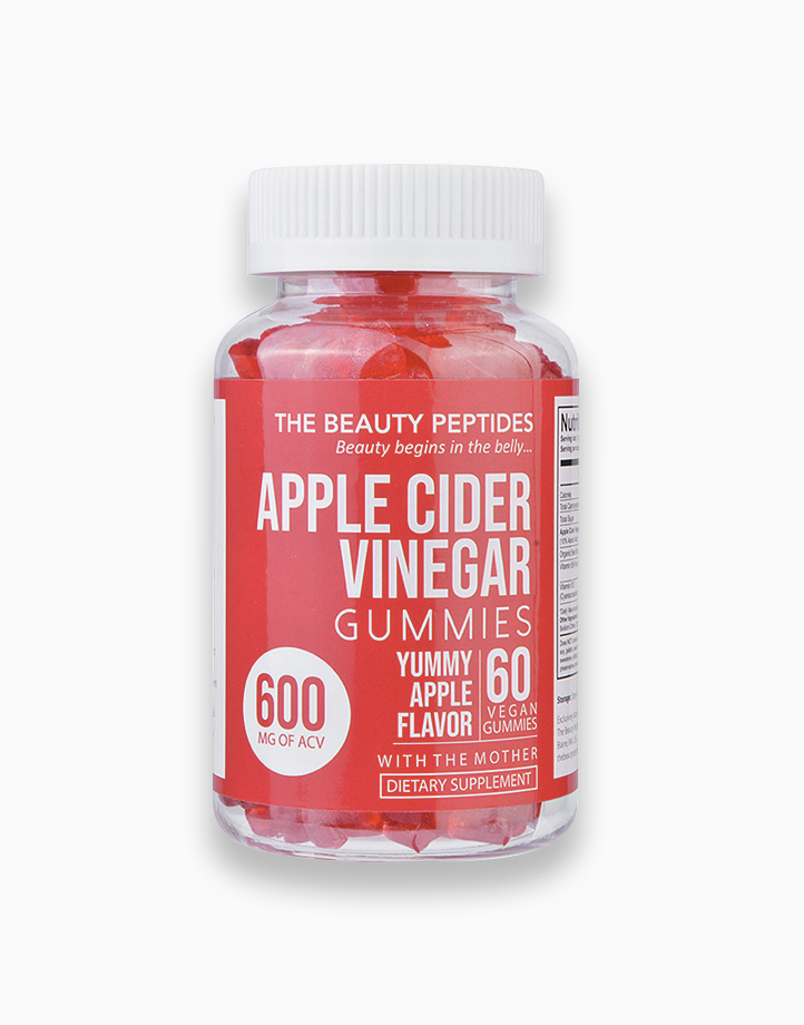 Apple Cider Vinegar Gummies with the Mother (600mg, 60 Gummies) by The Beauty Peptides