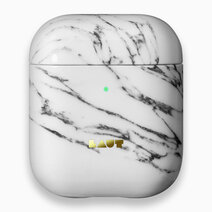 Re laut huex element airpods case marble white