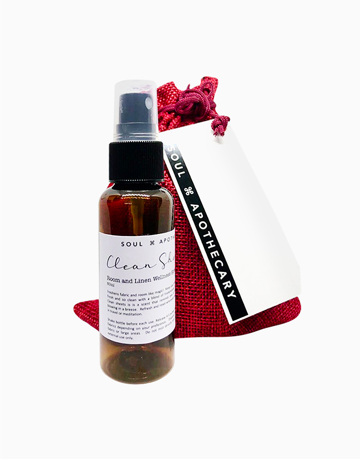 Wellness Spray in Maroon Gift Pouch by Soul Apothecary | Clean Sheets