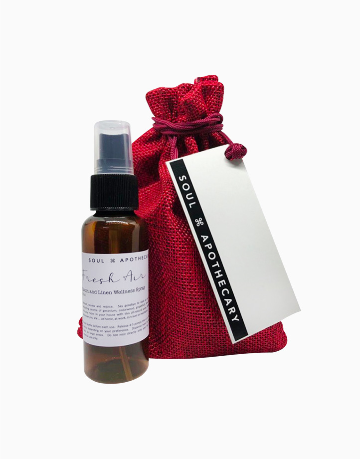 Wellness Spray in Maroon Gift Pouch by Soul Apothecary | Fresh Air