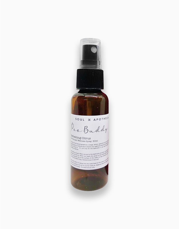 Wellness Spray in Maroon Gift Pouch by Soul Apothecary | Poo Buddy - Refreshing Citrus