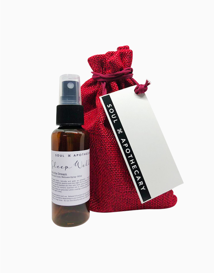 Wellness Spray in Maroon Gift Pouch by Soul Apothecary | Sleep Well - Into the Dream