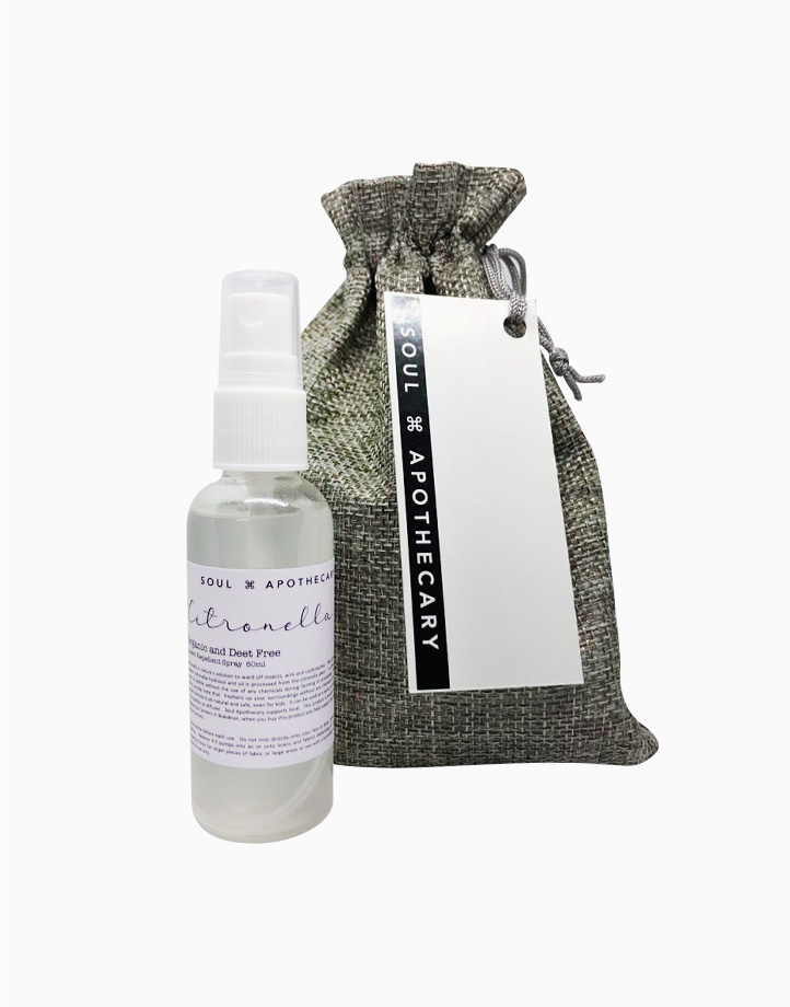 Wellness Spray in Gray Gift Pouch by Soul Apothecary | Citronella Insect Repellent Spray