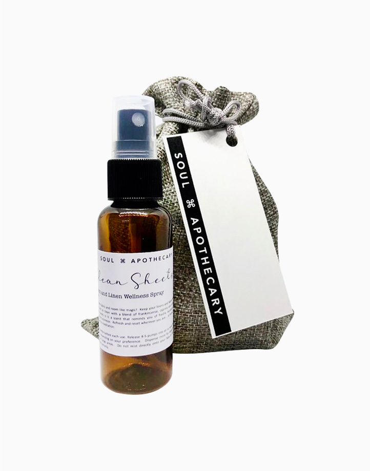 Wellness Spray in Gray Gift Pouch by Soul Apothecary | Clean Sheets