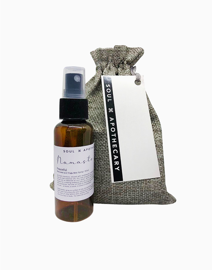 Wellness Spray in Gray Gift Pouch by Soul Apothecary | Namaste - Peaceful