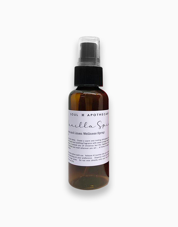 Wellness Spray in Gray Gift Pouch by Soul Apothecary | Vanilla Spice