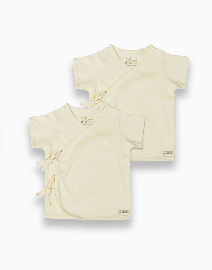 Tie-Side Shirt Short Sleeves (Natural) by St. Patrick Baby | 0-3M