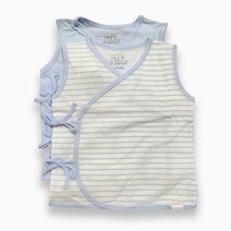 St. patrick tie side shirt sleeveless %28powder blue   blue stripes%29