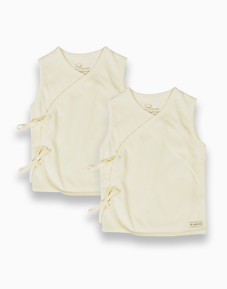 Tie-Side Shirt Sleeveless (Natural) by St. Patrick Baby | 3-6M