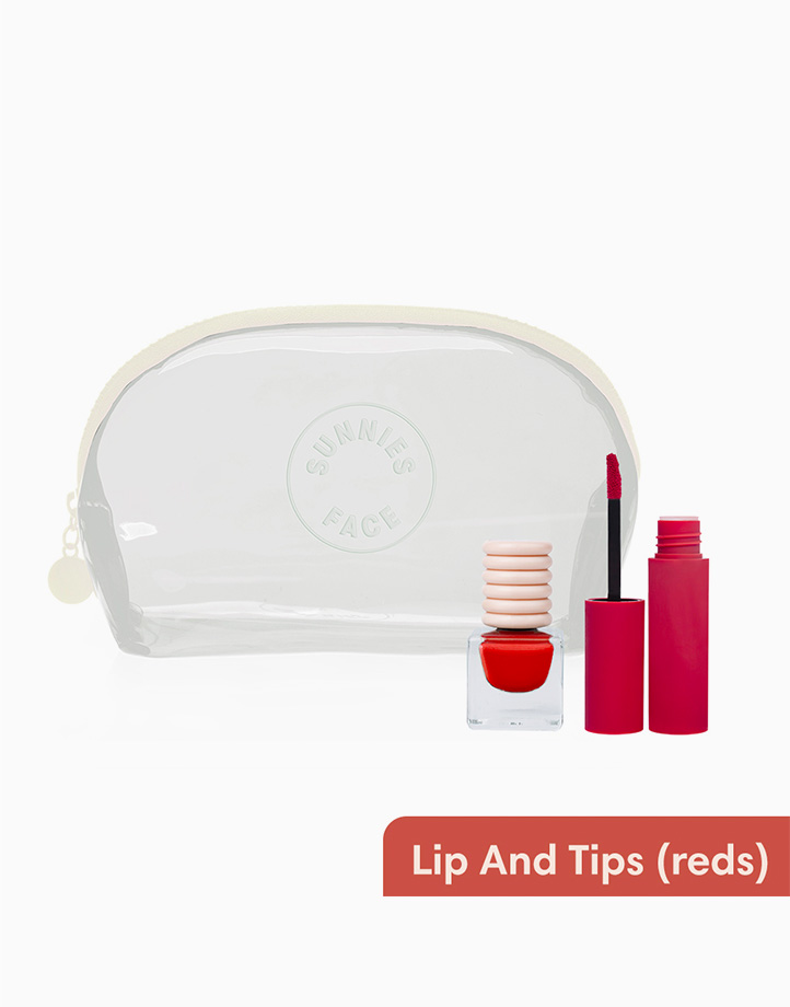 Sunnies Face Lips and Tips [Lipstick, Nail Polish, and Makeup Kit Set] (Reds) by Sunnies Face