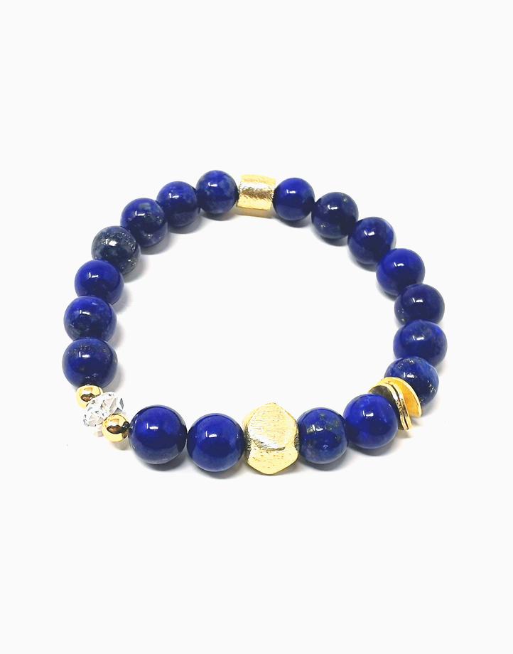 True Wisdom Bracelet with Lapiz Lazuli and Clear Quartz *Jewels of the Nile* (Unisex) TWIS-CU1 by The Calm Chakra | Women's Medium