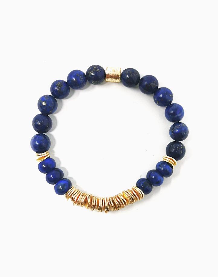 True Wisdom Bracelet with Lapiz Lazuli *Jewels of the Nile* (Unisex) TWIS-BU1 by The Calm Chakra | Women's XL/Men's L