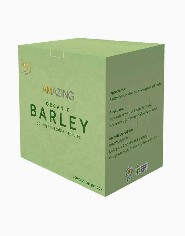 Pure Organic Barley Capsules (100 Capsules) by iAMWorldwide