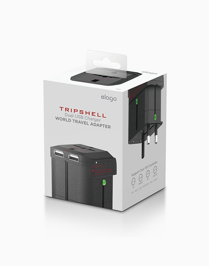 TripShell World Travel Adapter & Dual USB Adapter by Elago