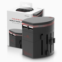 Tripshell world travel adapter dual usb adapter ii 1