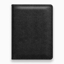 Re slim wallet with tile black leather 1