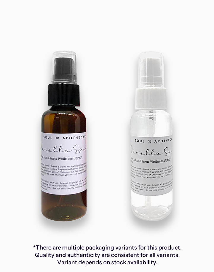 Vanilla Spice Room and Linen Wellness Spray (50ml) by Soul Apothecary