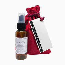 wellness spray in maroon gift pouch scent  namaste   grounding 1