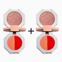B1t1 hojo cosmetics dear marble 3 color eyeshadow with mirror