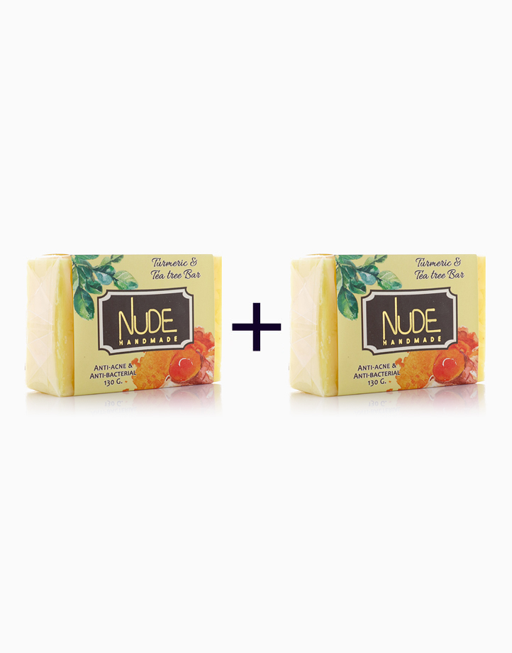 Turmeric & Tea Tree Bar (130g) (Buy 1, Take 1) by Nude Handmade Essentials