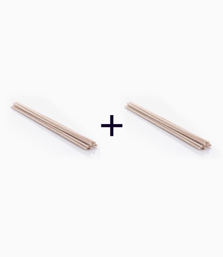 "POREX ""No-Flip"" Natural Color E-reed Stick 12s Bundle (8"") (Buy 1, Take 1) by Pure Bliss"