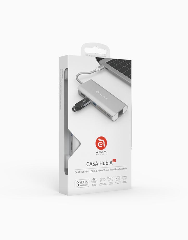 CASA Hub A01USB 3.1 USB Type C (USB-C) 6 Port Hub by Adam Elements | Gold