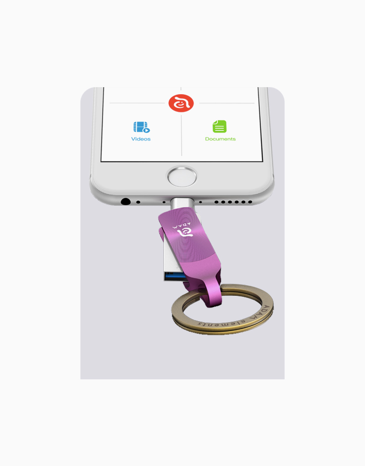 iKlips Duo+Premium Apple Lightning Flash Drive (32GB) by Adam Elements | Royal Orchid