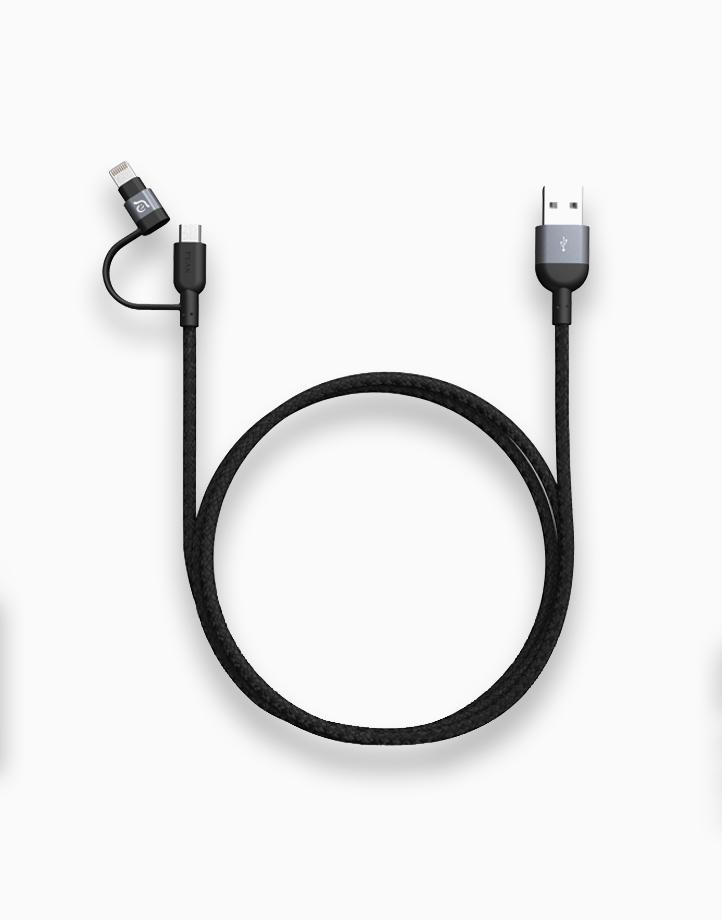PeAk II Duo Cable MFi Lightning & Micro USB (120cm) by Adam Elements   Gray