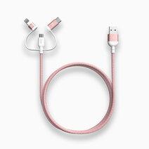 PeAk II Trio Cable MFi Lightning/Type C & Micro USB (120cm) by Adam Elements