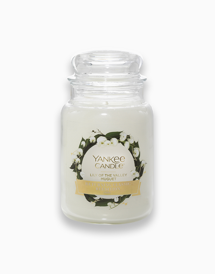 Classic Large Jar Candle by Yankee Candle   Lily of the Valley