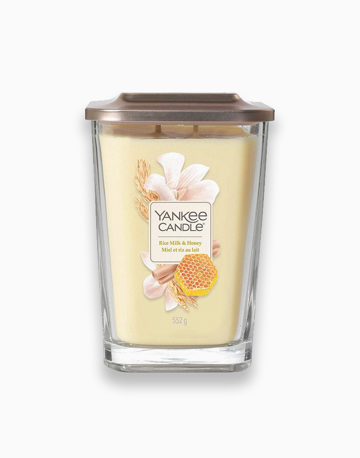 Large 2-Wick Square Candle by Yankee Candle | Rice Milk and Honey