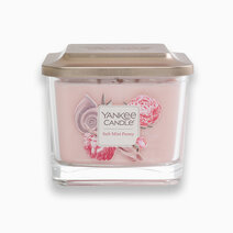 Yankee candle medium 3 wick square candle salt mist peony