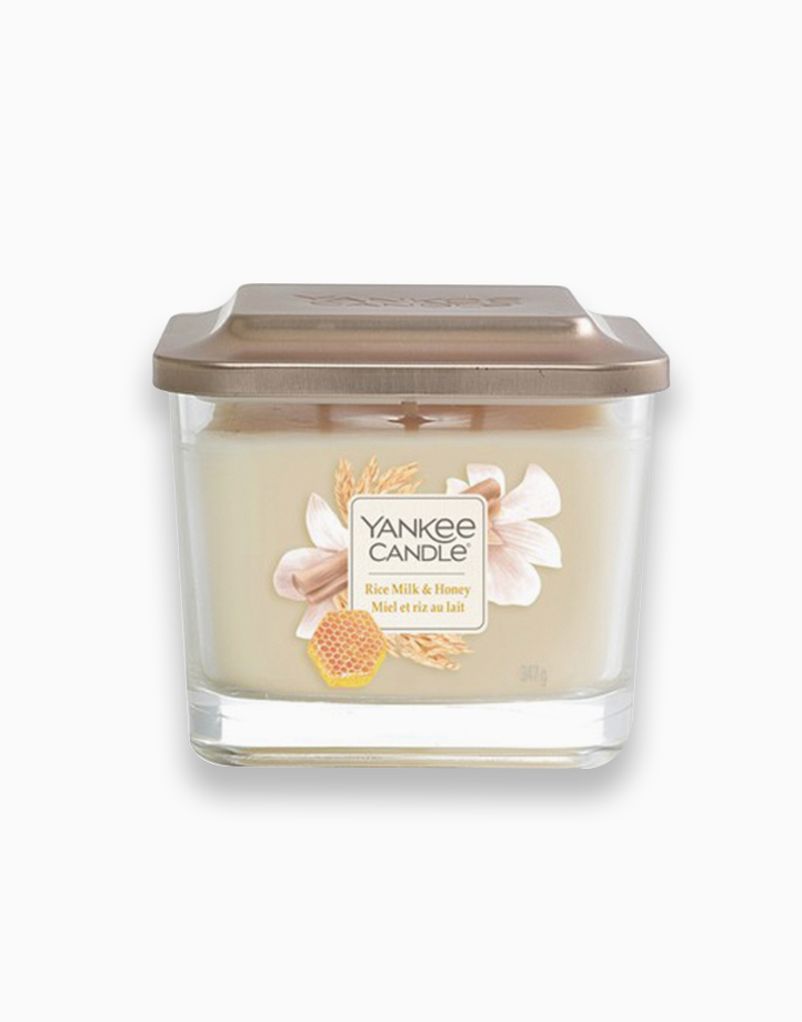 Medium 3-Wick Square Candle by Yankee Candle | Rice Milk and Honey