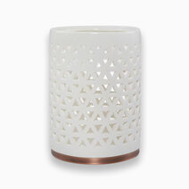 Yankee candle jar candle holder belmont white ceramic