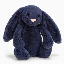 Jellycat Bashful Navy Bunny (M) by Jellycat