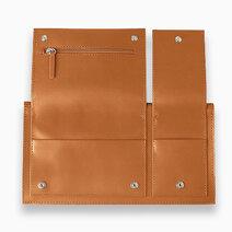 Multi pocket travel wallet brown 1
