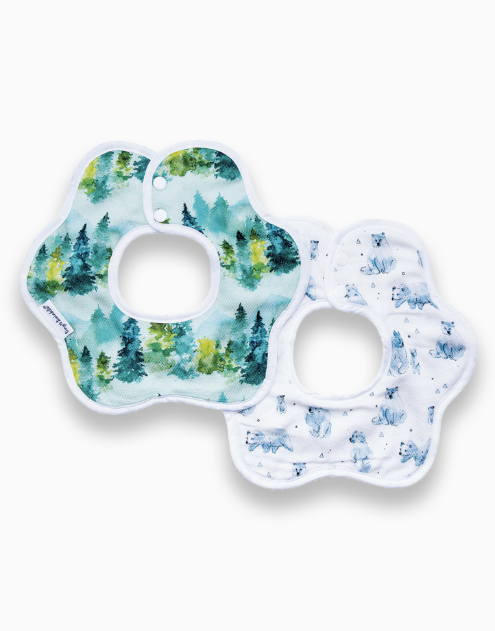 Roundabout bib 2pack forest set