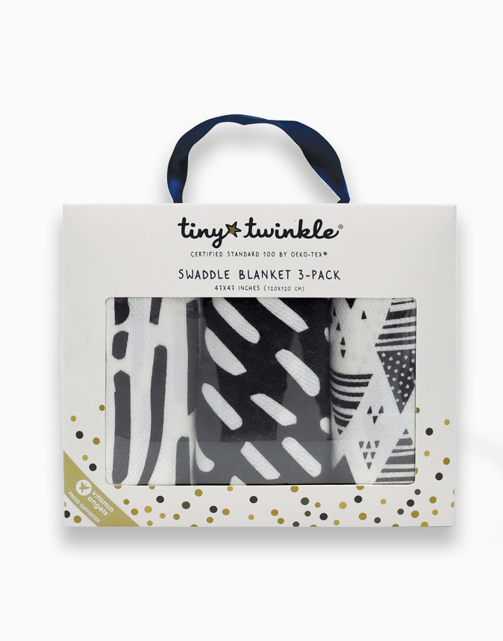 Swaddle Blanket (3-Pack) by Tiny Twinkle | Black & White Set