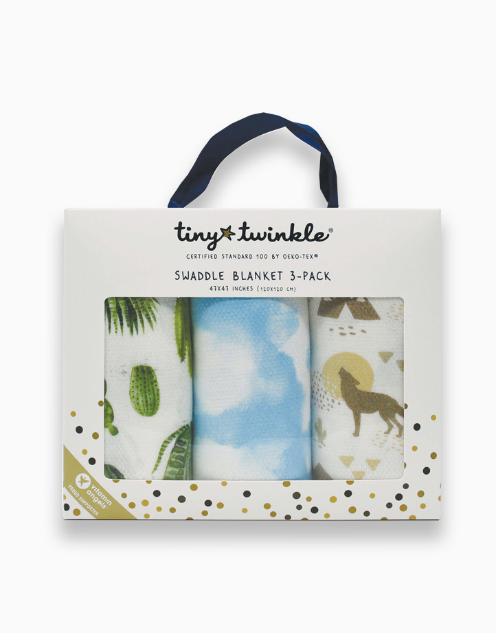 Swaddle Blanket (3-Pack) by Tiny Twinkle | Cacti Set