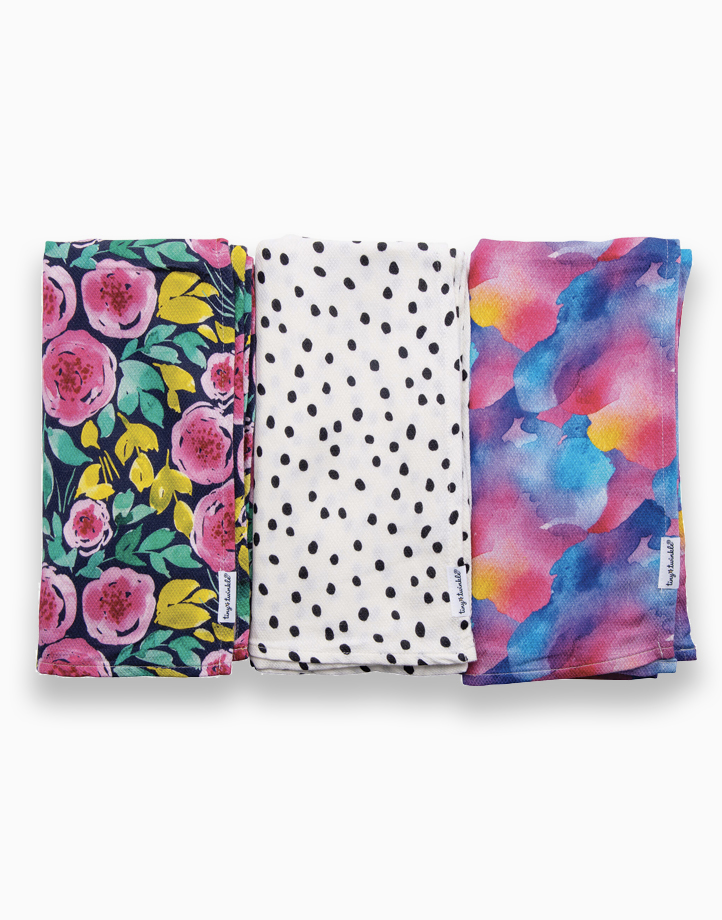 Swaddle Blanket (3-Pack) by Tiny Twinkle | Painted Peony Set