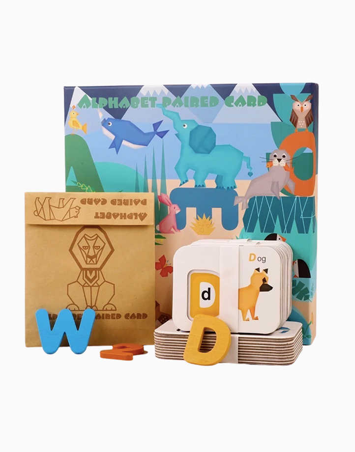 Wooden Alphabet and Number Pairing by Little Hippo