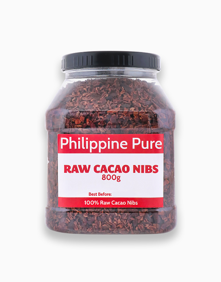 Raw Cacao Nibs (800g Jar) by Philippine Pure