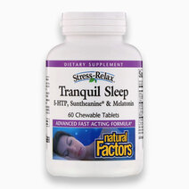 Stress-Relax Tranquil Sleep - 5-HTP, Suntheanine, & Melatonin (60 Chewable Tablets) by Natural Factors