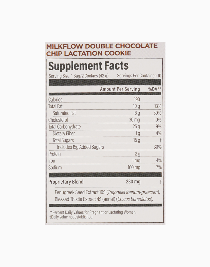 Milkflow Fenugreek Double Chocolate Chip Lactation Supplement Cookie Mix (12 Servings) by UpSpring