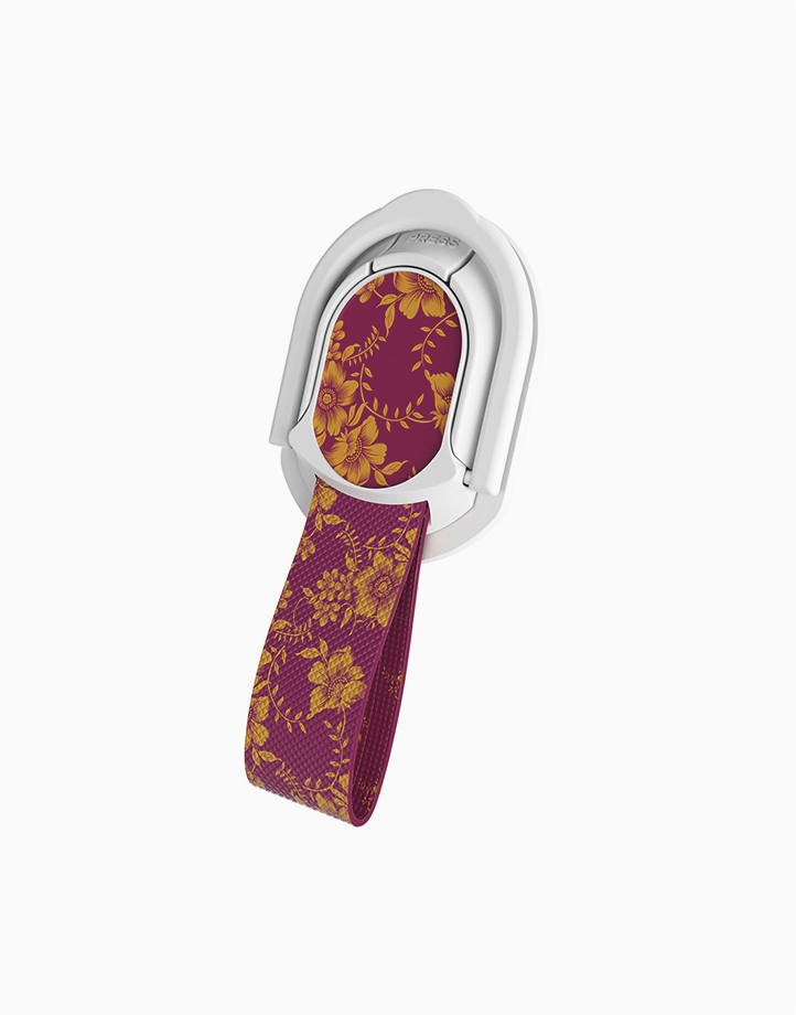 Loop Finger Grip and Kickstand by Ghostek   Floral Fuchsia