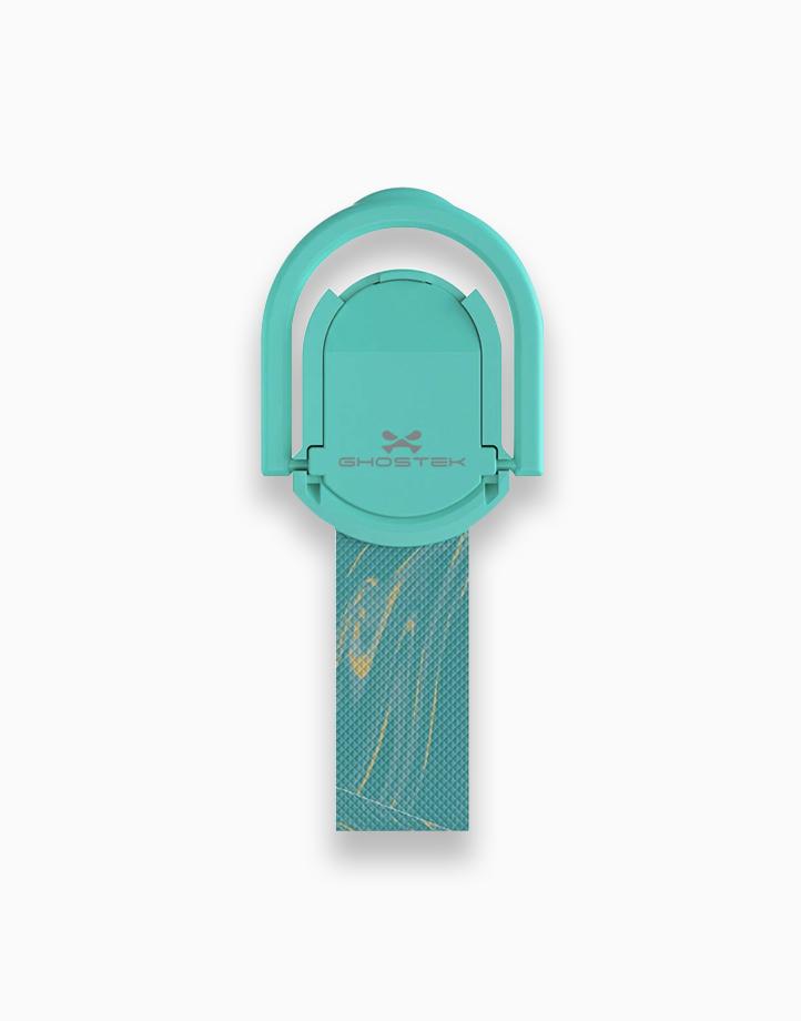 Loop Finger Grip and Kickstand by Ghostek   Marble Turquoise