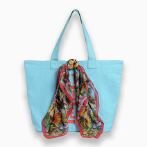 Trendy shopping bag blue 1